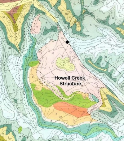 HOWELL CREEK STRUCTURE – Crater Explorer