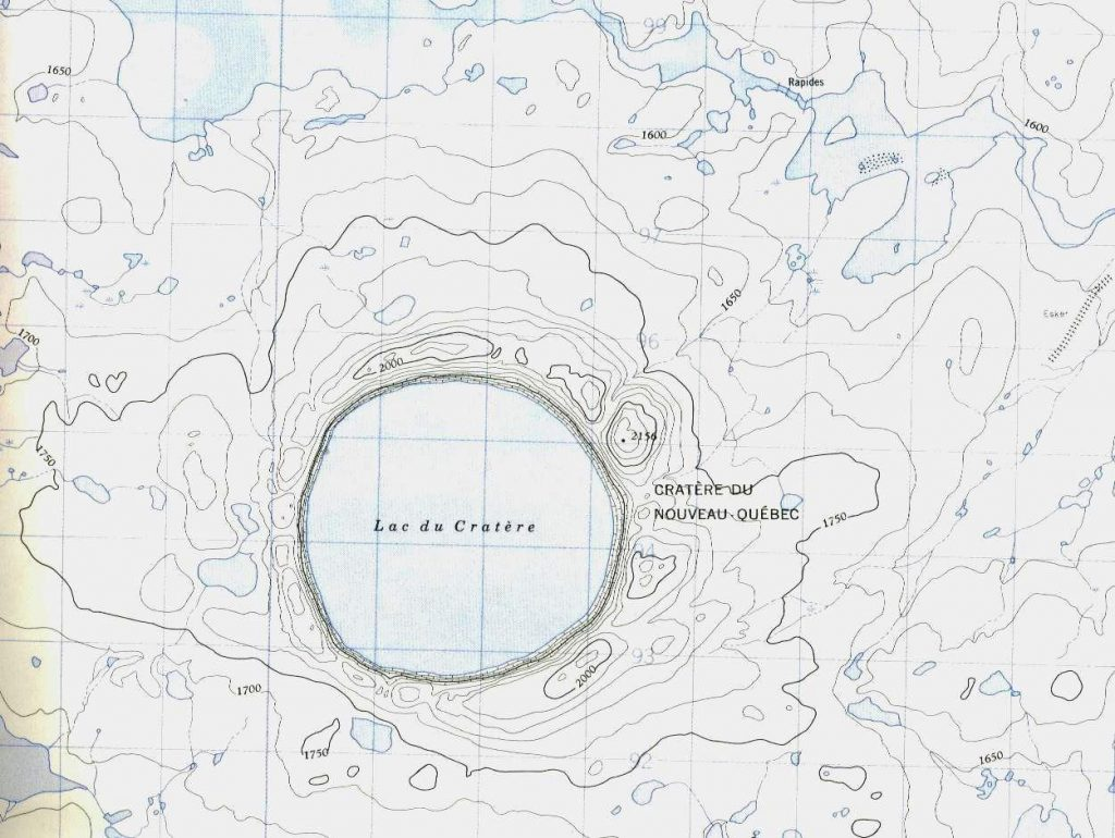Crater Lake Topographic Map.Pingualuit Impact Crater Crater Explorer