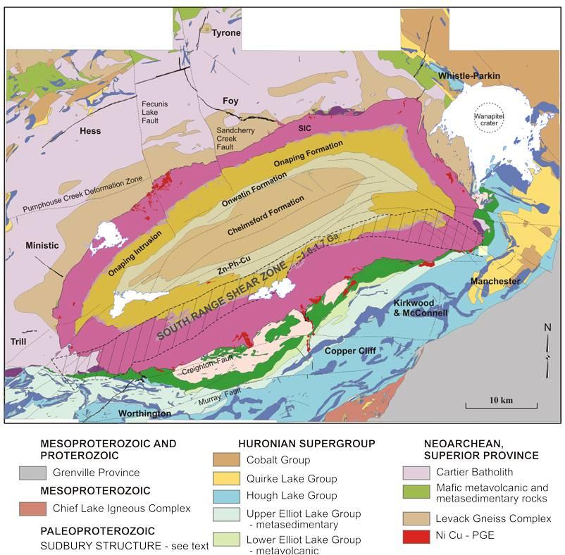 SUDBURY IMPACT STRUCTURE Crater Explorer